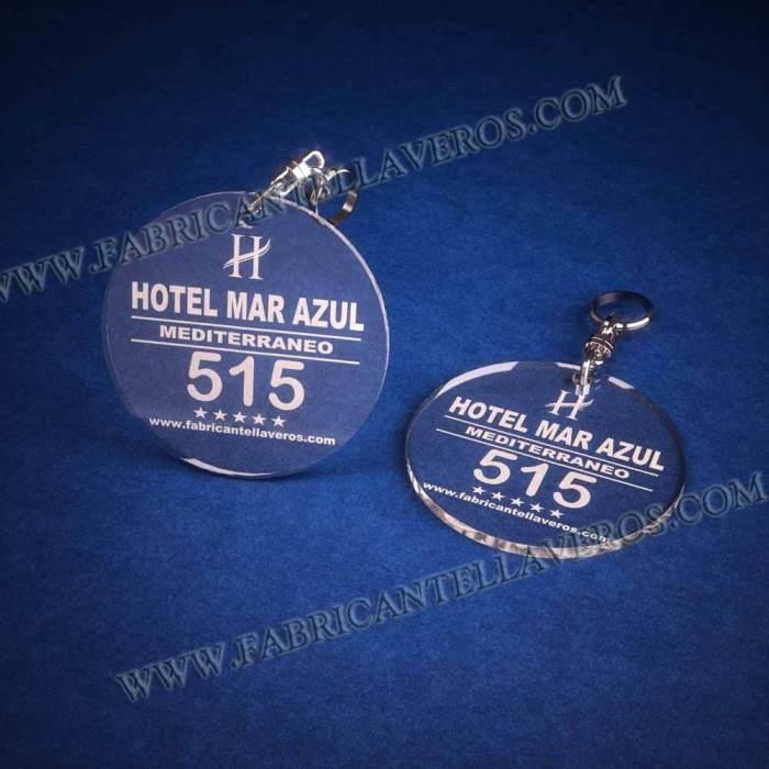 llaveros personalizados baratos grabados para hoteles redondo 50x50