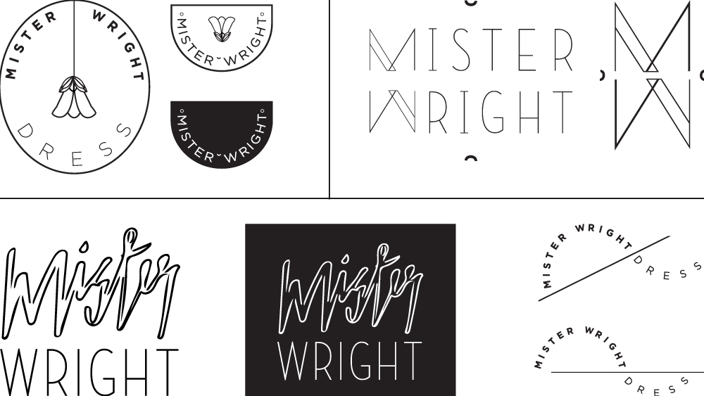 Mister Wright Dress Identity Design Samples
