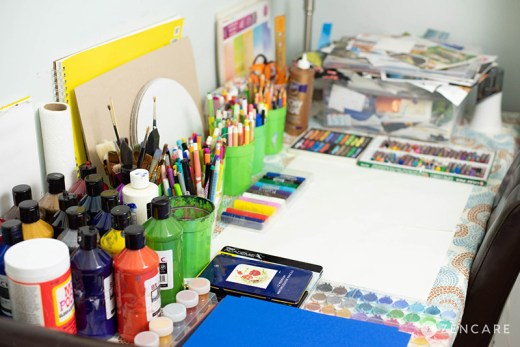 Art Therapy Workspace in my Flatiron Office