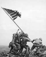 Iwo Jima Flag Raising by Rosenthal