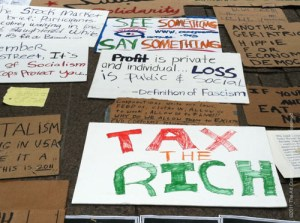 #OWS Pizza Boxes turned into Placards