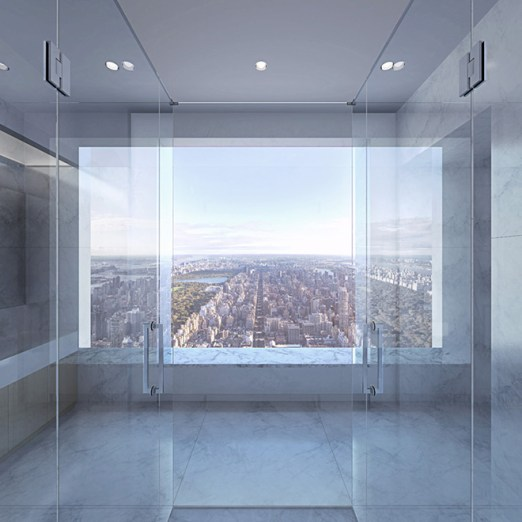 Upper East Side view from high above 432 Park Avenue