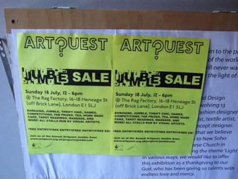 Artquest Jumble Sale 2009