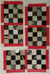 Sew the two bottom blocks together.