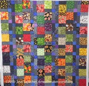 Food Quilt #2 top without borders