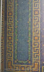 Wall tile in indoor pool