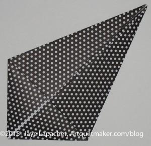Fold to a kite shape