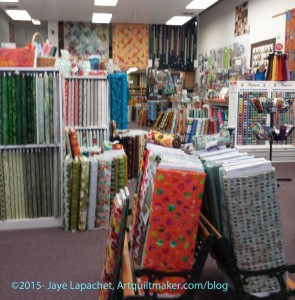 Quiltwork Patches front to back of the store