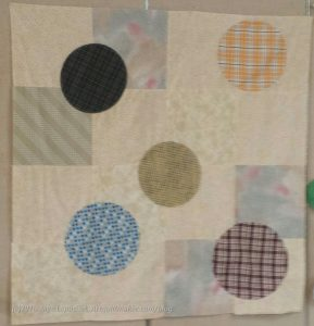 First layer circles sewed
