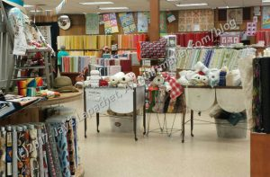 Yoder's large fabric area