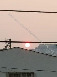 Weird Red Sun