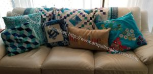 Couch with Cushions