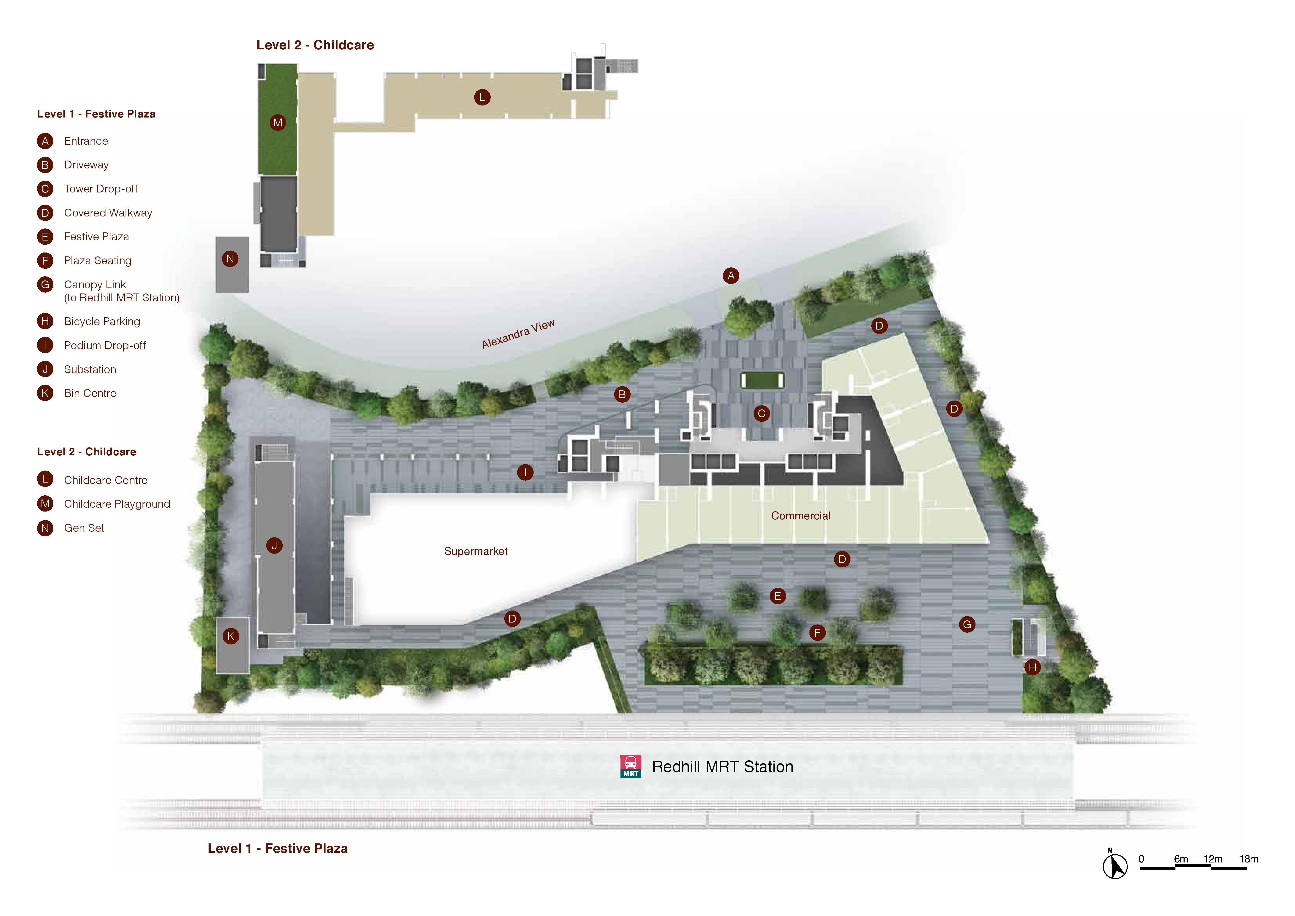 Artra Festive Plaza and Child Care Site Map