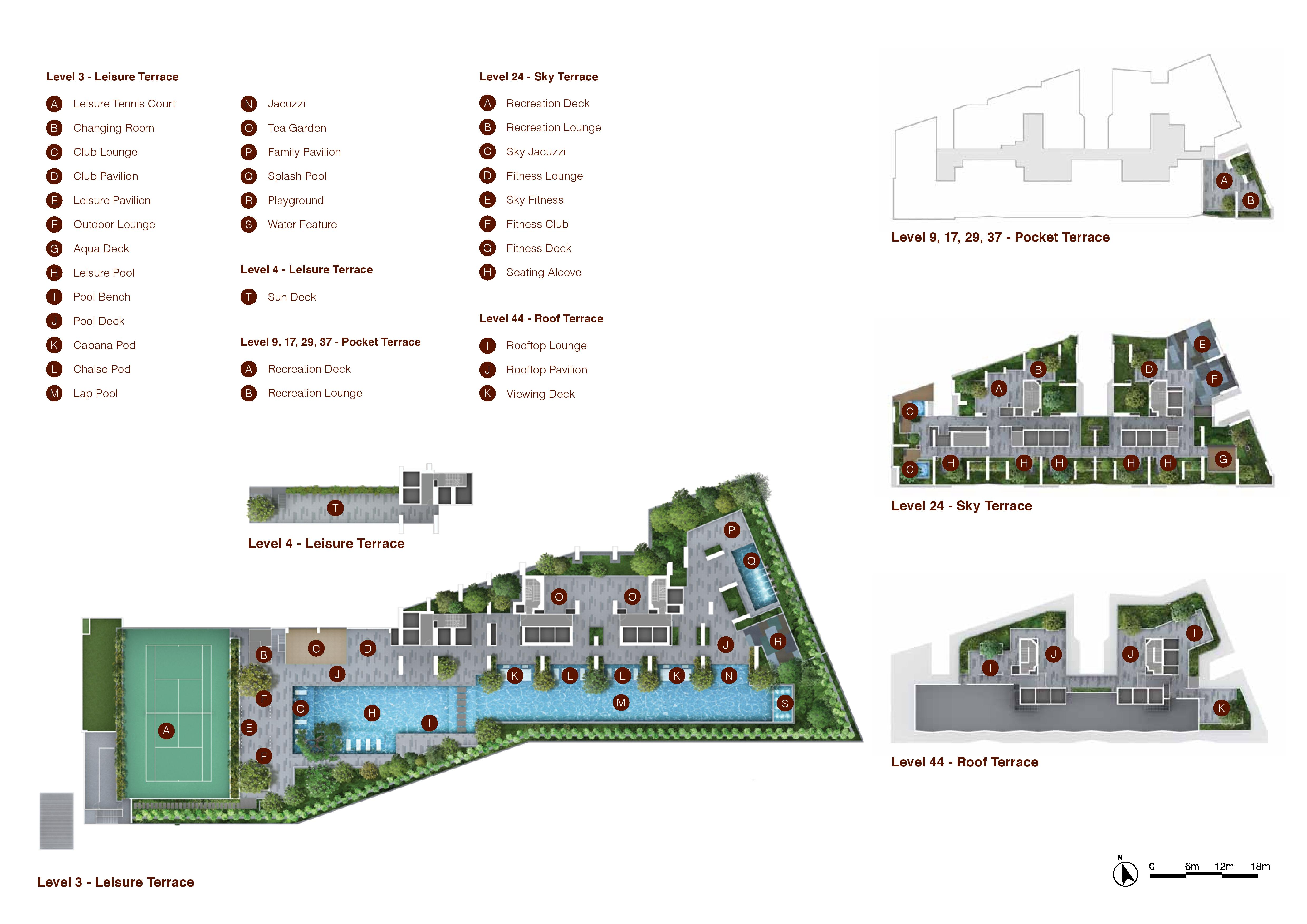 Artra All Levels Facilities Site Map