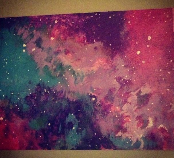 Acrylic Painting Ideas Galaxy Arte Inspire