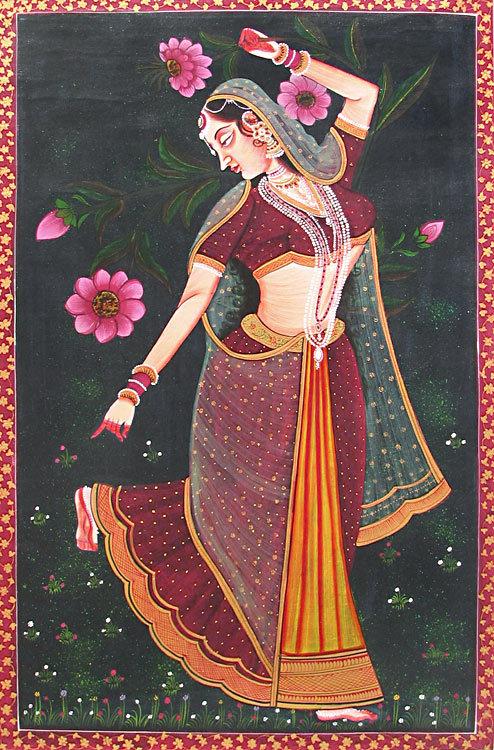 Fairy Girl Hd Wallpaper Rajput Miniature Paintings