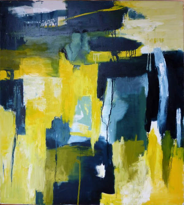 Abstract Yellow Paintings