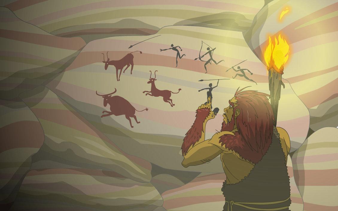 God Animation Wallpaper Caveman Paintings