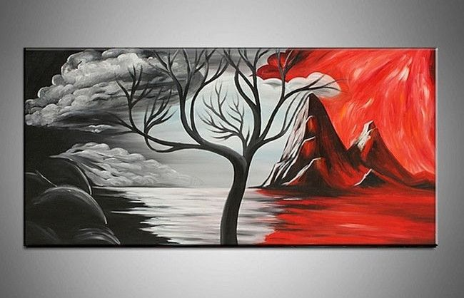 black canvas paintings