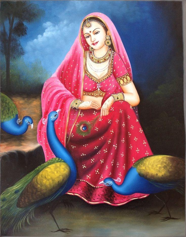 Alwar Girl Wallpaper Rajasthani Women Paintings