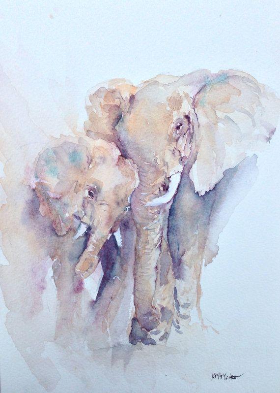 watercolor elephant paintings