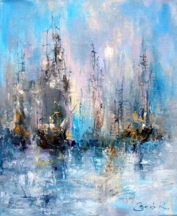 Impressionist Sailboat paintings