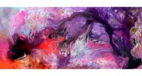 Abstract Purple paintings