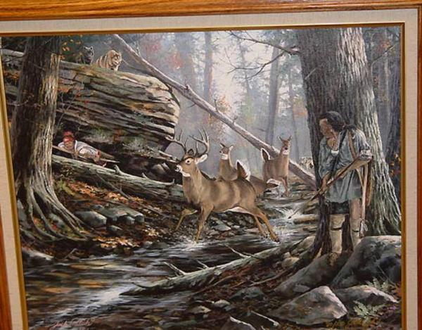Eastern Woodland Indian Hunting Paintings