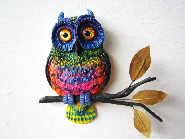 Whimsical Owl Paintings