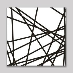 20 lignes au hasard, 1970, huile sur toile, 240 x 240 cm, Mönchengladbach, Städtisches Museum Abteiberg, © Atelier Morellet