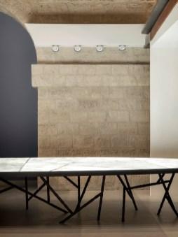 Table Rinck, fer et albâtre