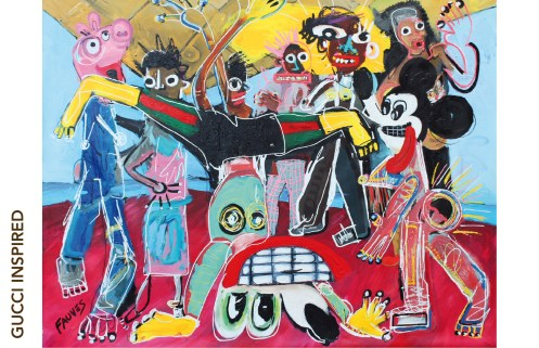 Dance Hall John Paul Fauves Technique : mixte, acrylique sur toile, 200 cm x 230 cm, 2017.