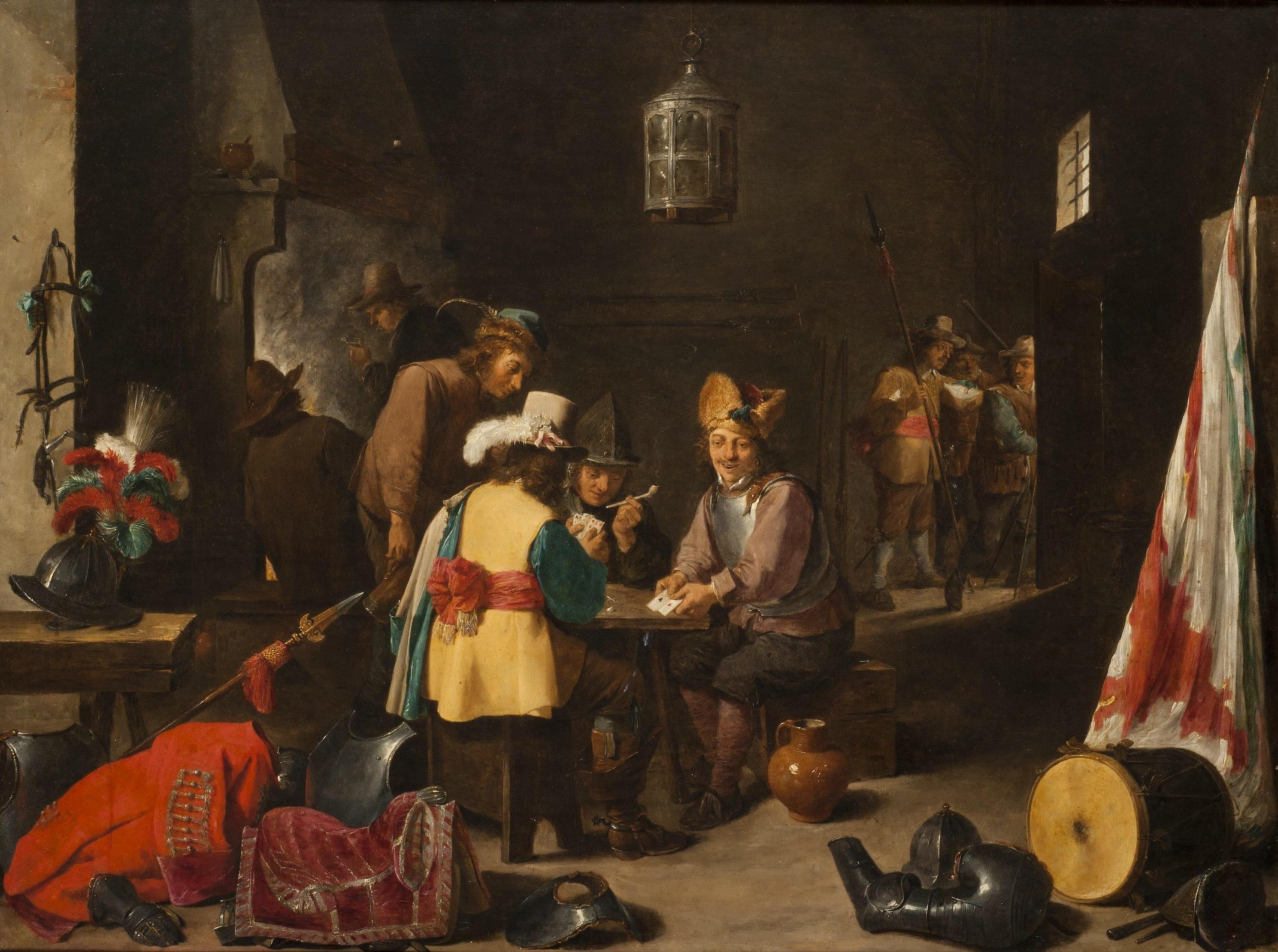 David Teniers il Giovane  Corpo di guardia con soldati