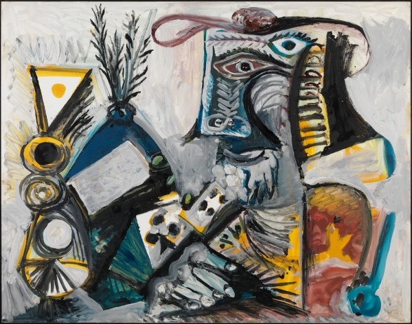 Pablo Picasso Le Joueur De Cartes Ii 1971 Louisiana