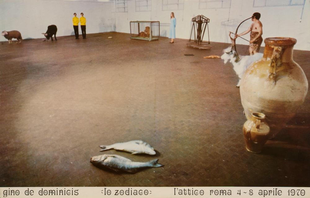 Gino De Dominicis Lo zodiaco LAttico Roma 1970  Artribune