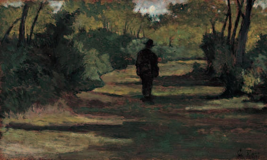 Giovanni Fattori  Uomo nel bosco studio  1890 ca