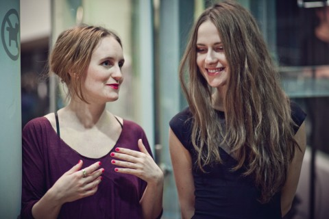 Minna Palmqvist e Ana Rajcevic alla mostra Wonderingmode - CoCA, Torun 2013 - photo Natalia Miedziak