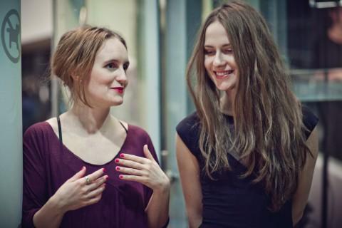 Minna Palmqvist e Ana Rajcevic alla mostra Wonderingmode - CoCA, Torun 2013 - photo Natalia Miedziak