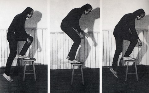 Vito Acconci, Step Piece, 1970