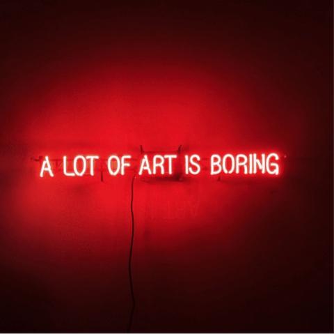 Steven Dobbin, A lot of art is boring
