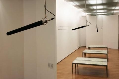 Alberto Garutti, In queste sale 28 microfoni registrano tutte le parole che gli spettatori pronunceranno. Un libro a loro dedicato le raccoglierà | 2012