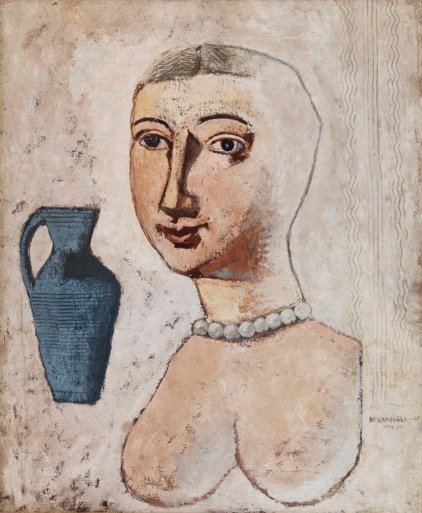 Massimo Campigli Busto con vaso blu 1928  Artribune