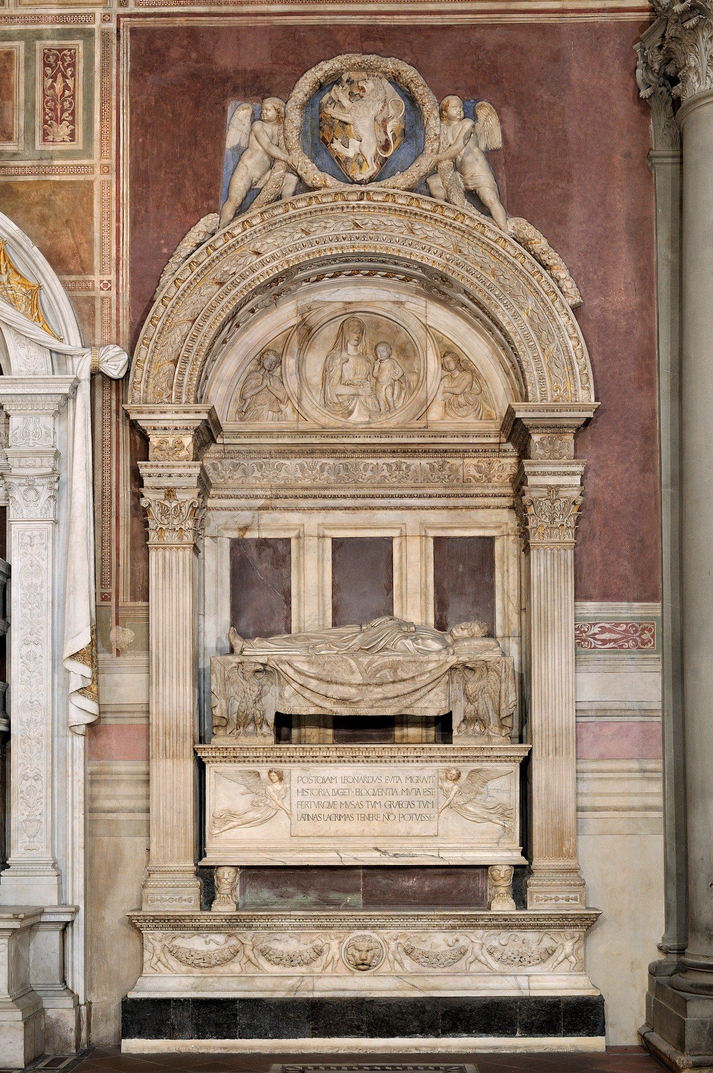 Bernardo Rossellino Monumento funebre di Leonardo Bruni