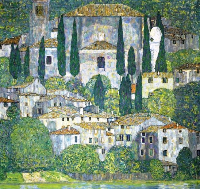 Gustav Klimt Paesaggio a Malcesine estate1913  Artribune