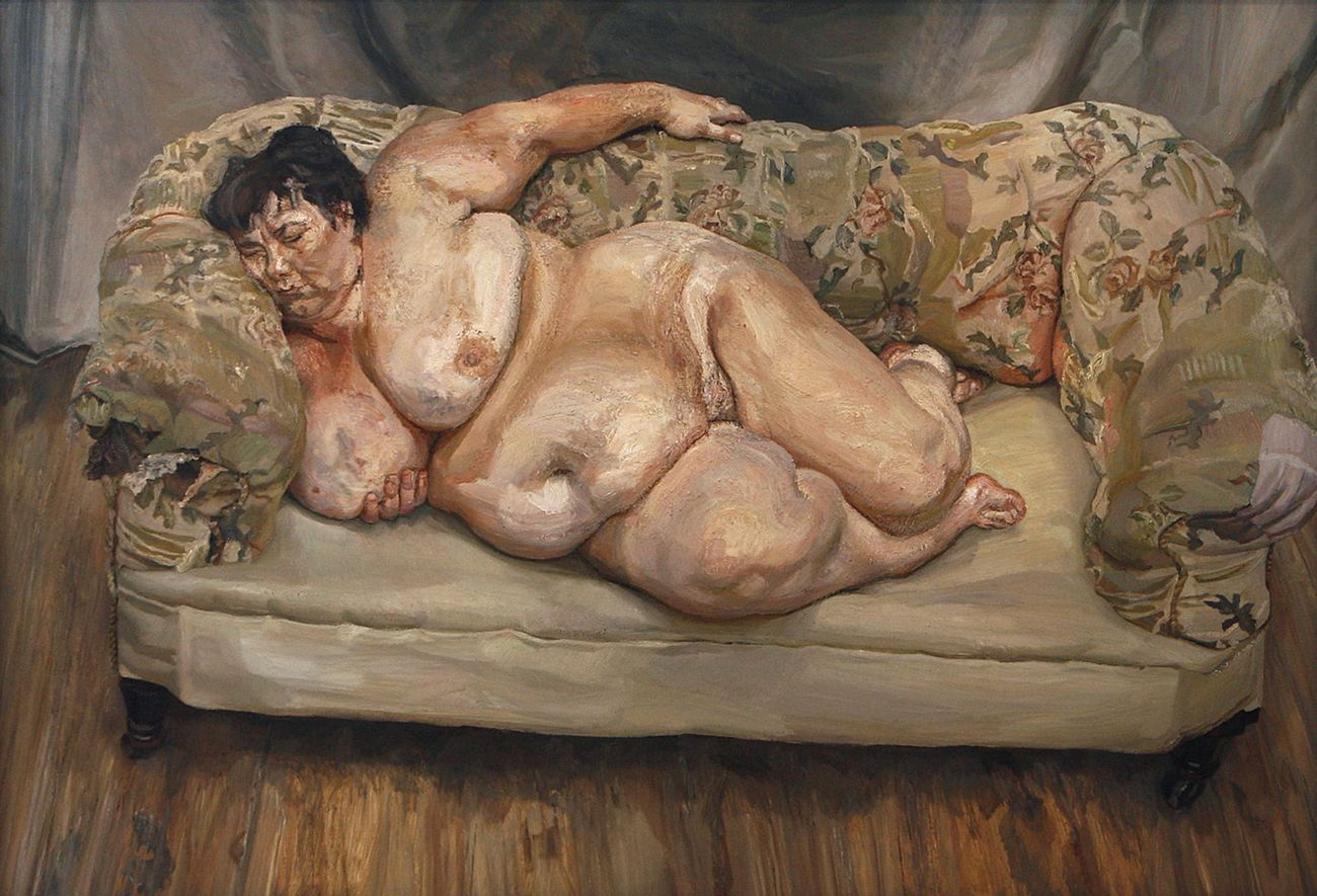 Lucian Freud, Benefits Supervisor Sleeping, 1995. Olio su tela. Collezione privata. Photo Lucian Freud Archive