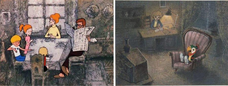 Обратная перспектива в советских мультфильмах