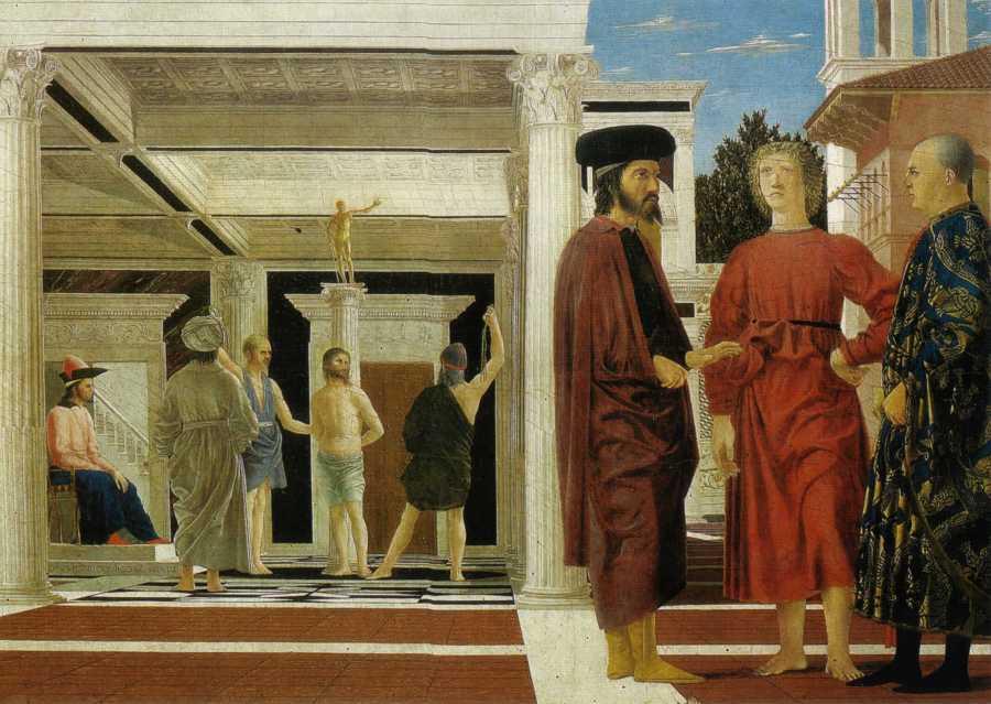 Пьеро делла Франческа. Бичевание Христа.
