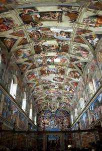 Up Close: Michelangelo's Sistine Chapel at the Oculus, World Trade Center, NYC