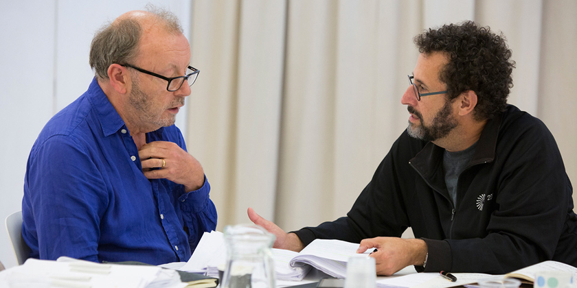 Dream team director Michael Boyd and writer Tony Kushner in rehearsal