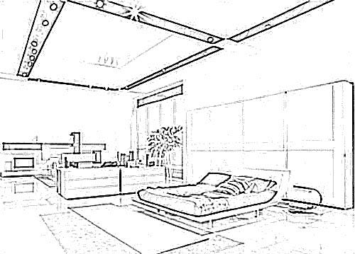 Bedroom Layout Coloring Pages